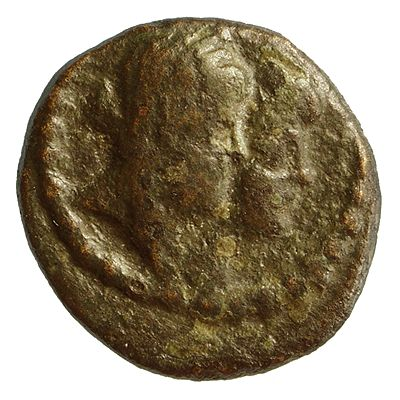 Bellinger Coin – Cleopatra Selene and Antiochus (Asiaticus), obverse